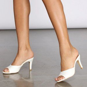 NEW🔥 SZ 8.5 Stiletto High Heel Slide Mules Sandal